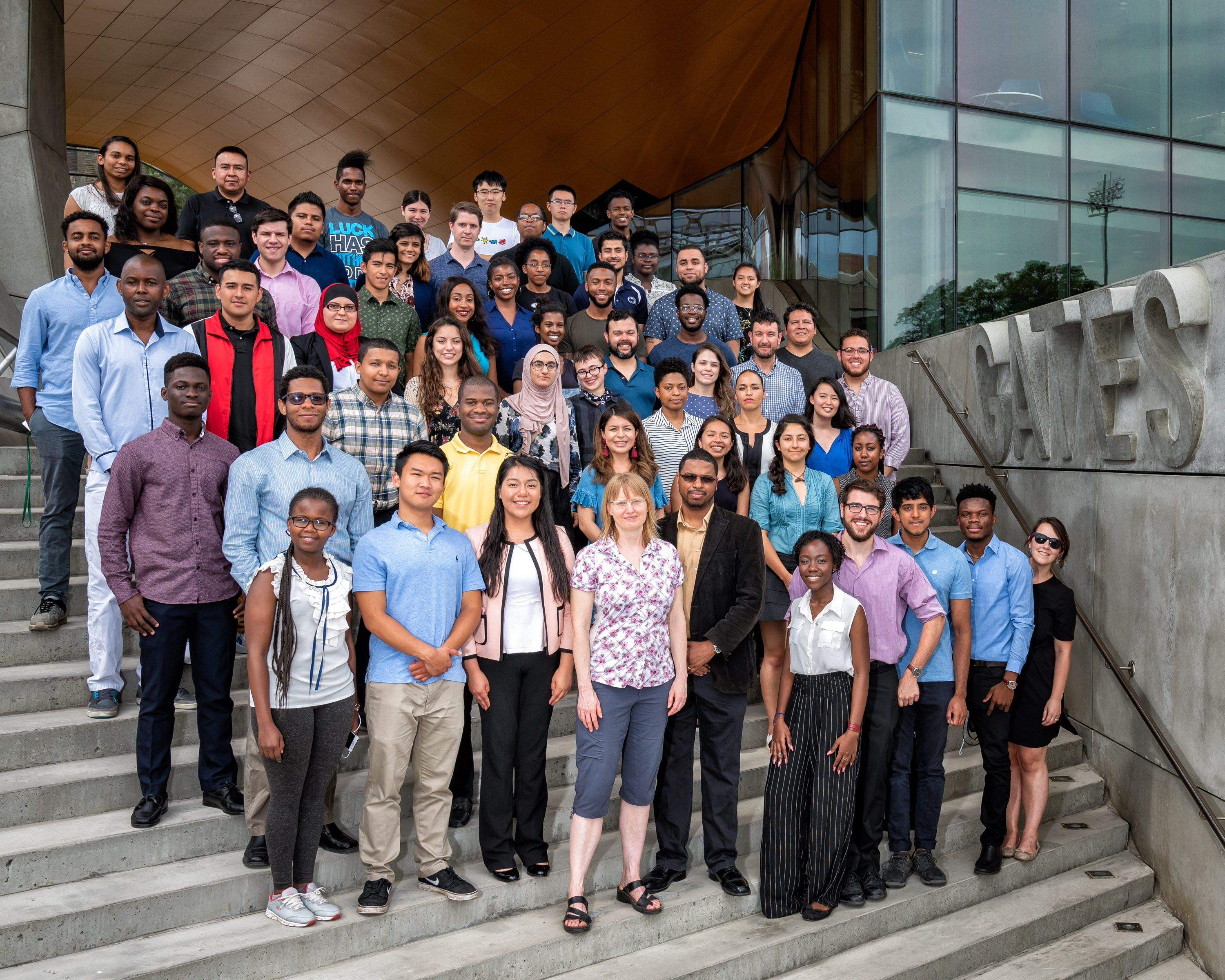 The 2018 cohort of students invited to Computing and Information Science's two summer programs, SONiC and Designing for Social Impact Class.