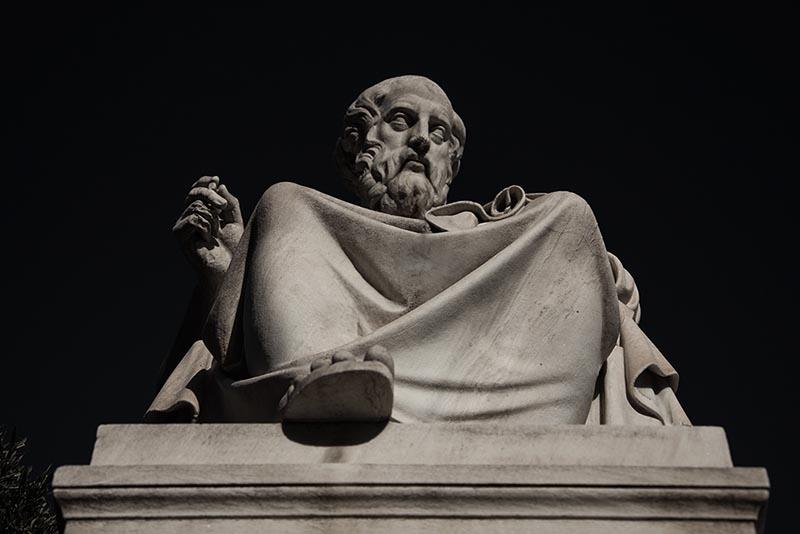 Statue of Plato in Greece.