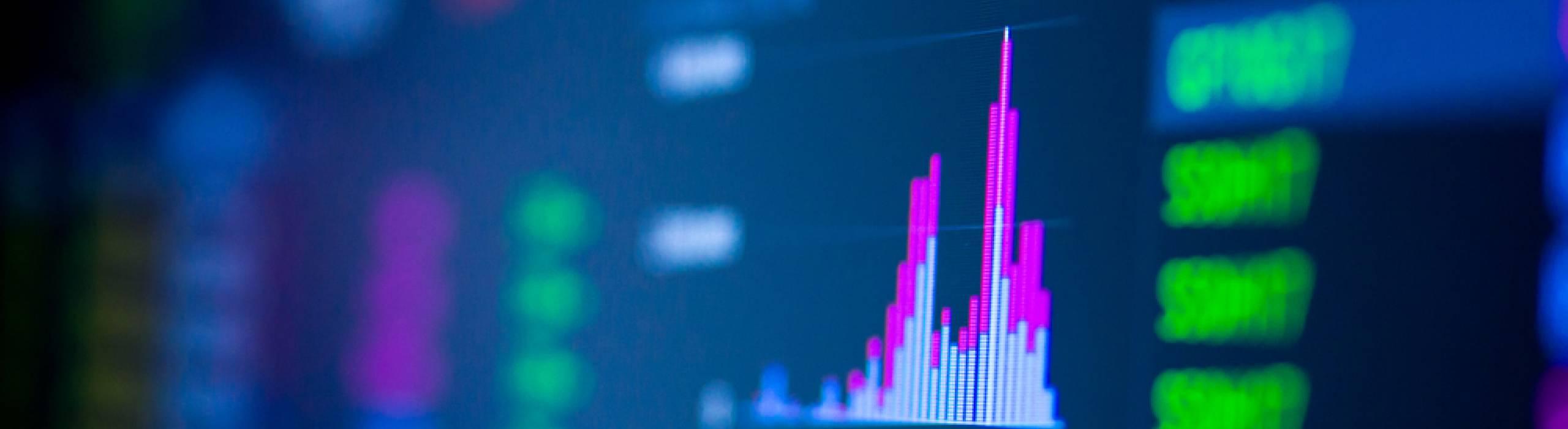 Economics and Information stock photo