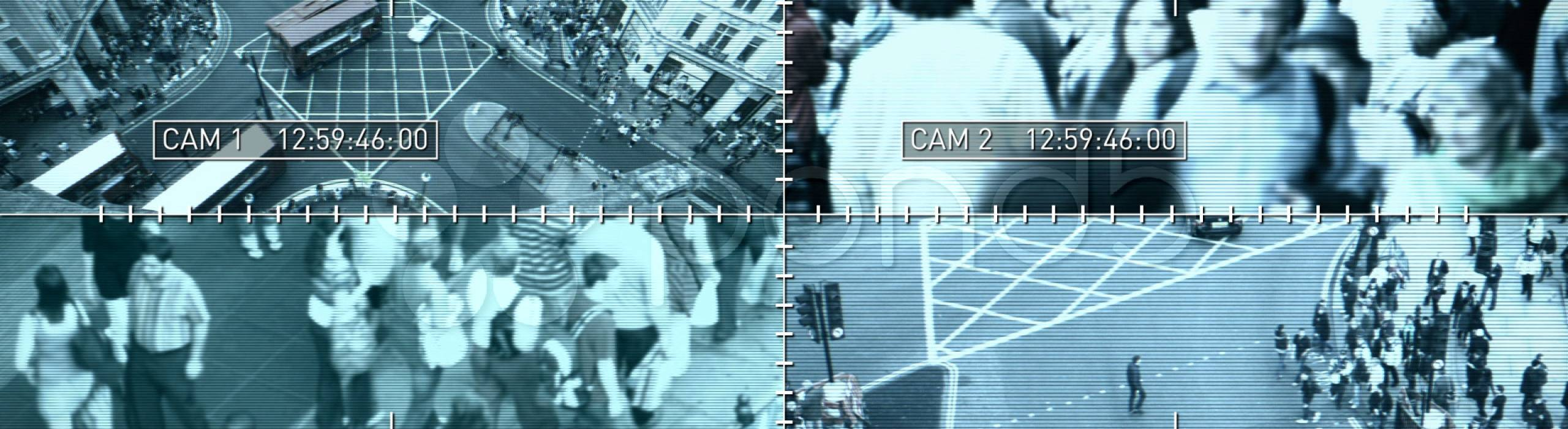 Stock photo of surveillance video screen
