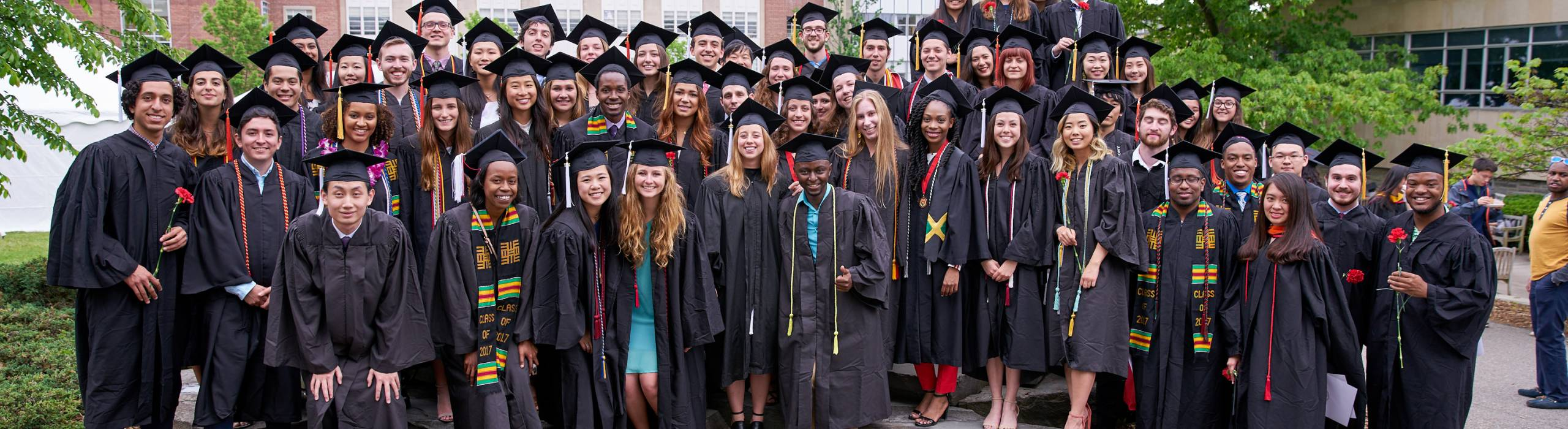 The Cornell Info Sci class of 2017 during Commencement on Saturday, May 27.