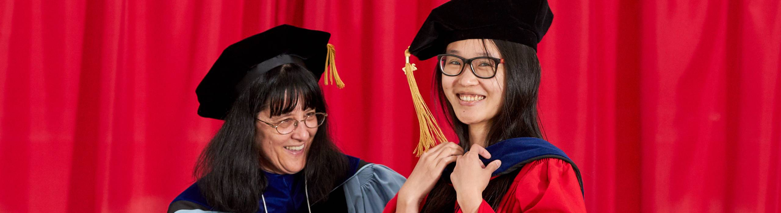 Emily Sun (Info Sci PhD '17) at Info Sci's 2017 commencement ceremonies.