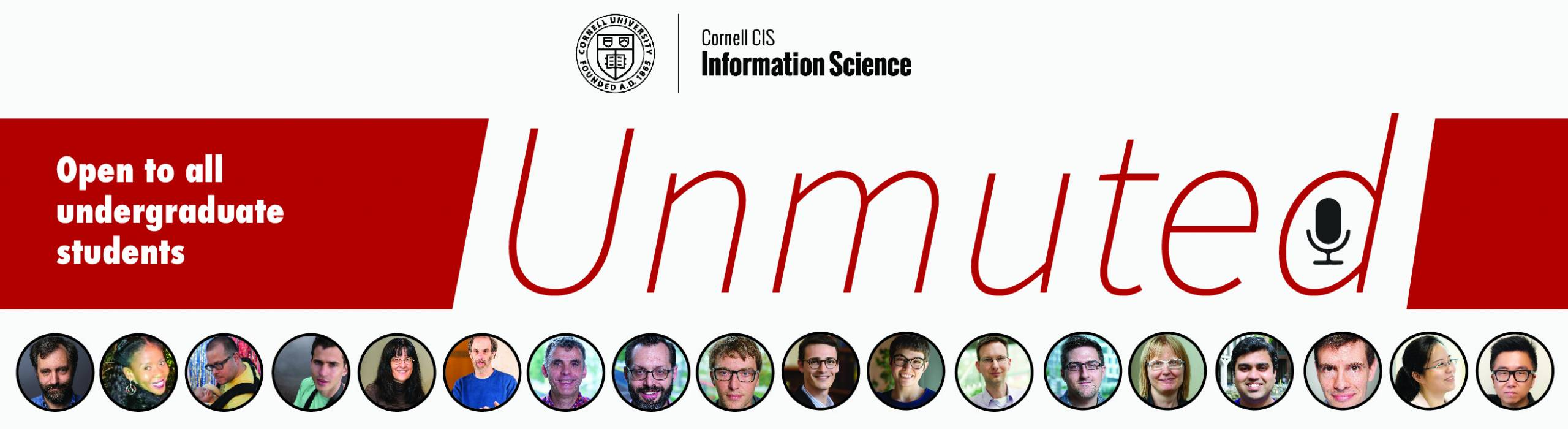 """""""Unmuted"""" is a series of 15 virtual, forum-style advising session with Info Sci profs."""