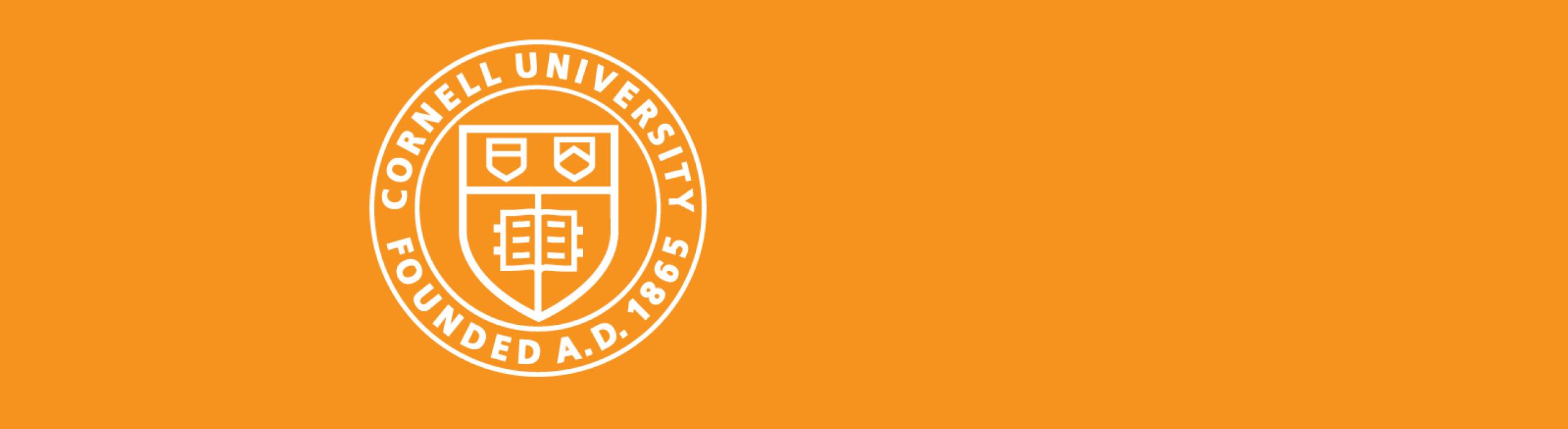 Cornell Banner in CIS orange