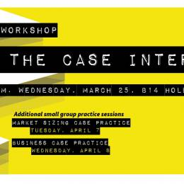 M.Eng/MPS workshop poster: Cracking the Case Interview on March 25