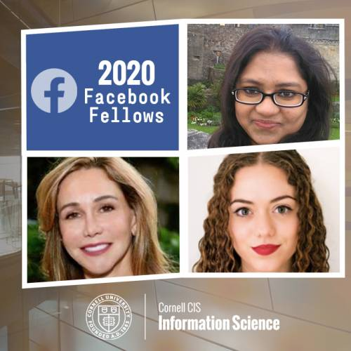 2020 Facebook Fellows: Diana Freed, Sharifa Sultana, and Briana Vecchione.