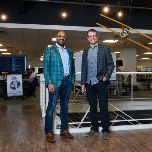 Nirah Shah and Steve Conine, co-founders of Wayfair.