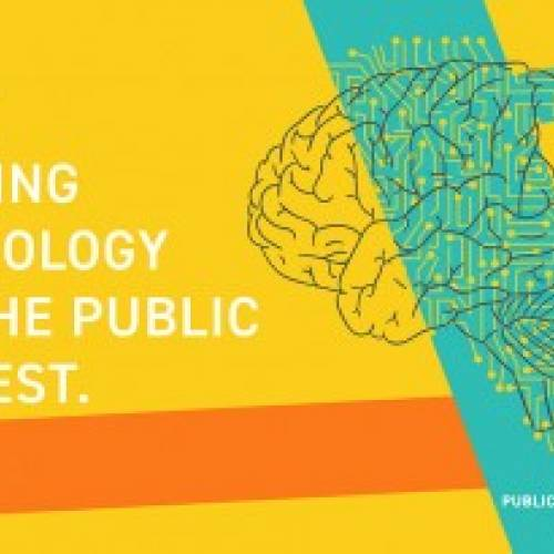 """""""We're bridging technology and the public interest"""", a slide courtesy of Public Interest Technology University Network"""