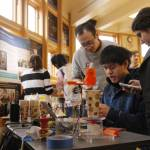 students in Rapid Prototyping (INFO 4320) made their semester-end trip to Ithaca's Sciencenter to demo their projects for area families on December 3, 2016.