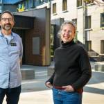 Steven Jackson, left, associate professor of information science in the Cornell Ann S. Bowers College of Computing and Information Science, is handing over the reins as professor-dean of Keeton House to C. Lindsay Anderson.